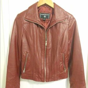 Jackets & Blazers - Burgundy leather jacket